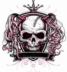 恐怖骷髅头t恤图案图片