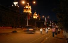 漠河大街夜景图片