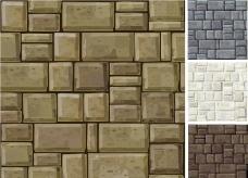 石头墙壁图片