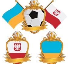 足球国旗标志标签图片