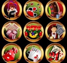 赌场标签设计图片