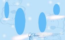 蓝色可爱背景模板图片