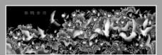仙鹤荷花图图片