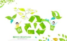 循环利用环保素材图片