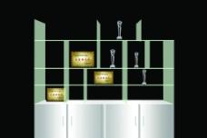 白钢玻璃奖牌架图片