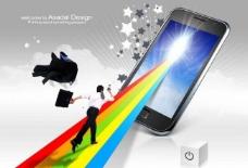 白领和智能手机图片