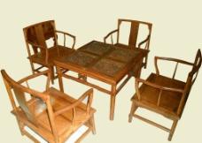 桌椅茶道榆木圖片