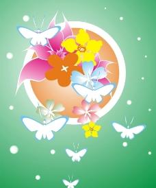 蝴蝶花背景图片