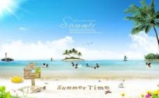 夏季海滩素材图片