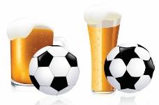 啤酒和足球图片