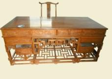 分层写字台桌椅图片