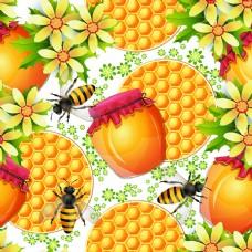 鲜花蜂蜜背景