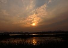 秋日黄昏图片