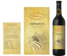 红酒标图片