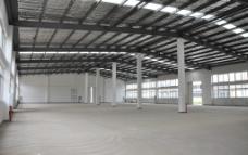 单层钢构厂房内部图片