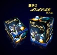 蘑菇灯包装盒设计图片