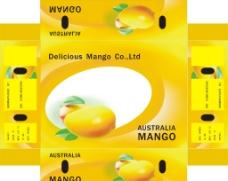 黄色芒果盒子包装设计图片