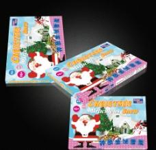 圣诞节玩具包装(展开图)图片