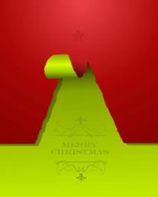 撕痕圣诞树背景素材