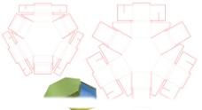 六角形天地盖盒图片