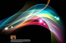 七彩动感光线 动感线条图片