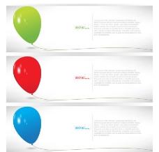 彩色气球banners 横幅图片