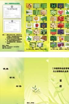 蔬菜三折頁圖片