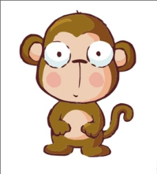 猴子矢量图片