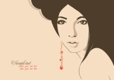性感线条美女插画