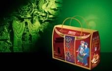 手提包装盒 (平面图)图片
