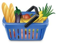 蔬果和购物筐05矢量素材