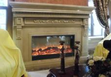 客厅中的伏羲电壁炉欧式装饰图片