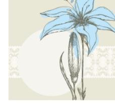 梦幻简约花纹花朵花卡图片