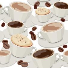 咖啡背景矢量素材