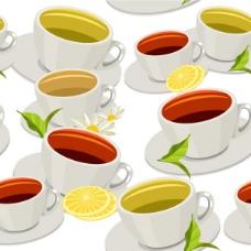 红茶背景矢量