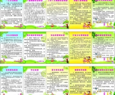 幼儿园十五项制度展板图片
