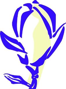 花叶线描图片