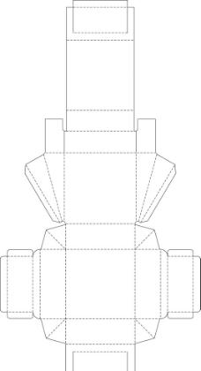 包装盒平面展开图图片