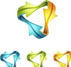 动感线条箭头 企业logo设计