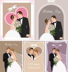 新郎新娘浪漫背景图片