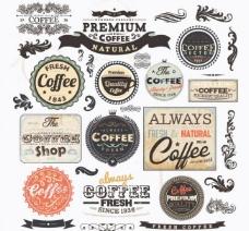 怀旧咖啡标签贴纸图片