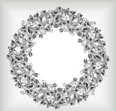 欧式花纹边框相框 花环图片