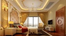 家装设计奢华主人房卧室图片
