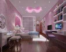 女孩房卧室效果图图片