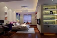 家装卧室效果图图片