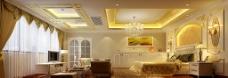 室内设计主人房卧室效果图图片