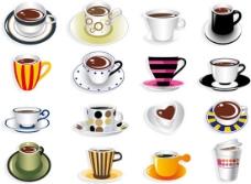 精美的各式咖啡杯