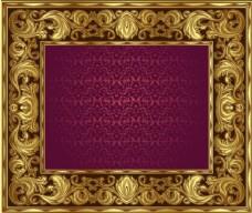 矢量华丽边框花纹装饰素材