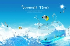 夏季海洋素材图片