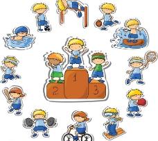 卡通儿童运动 体育比赛图片